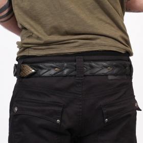 """Cintura \""""Void\"""", Cuero sintético negro"""