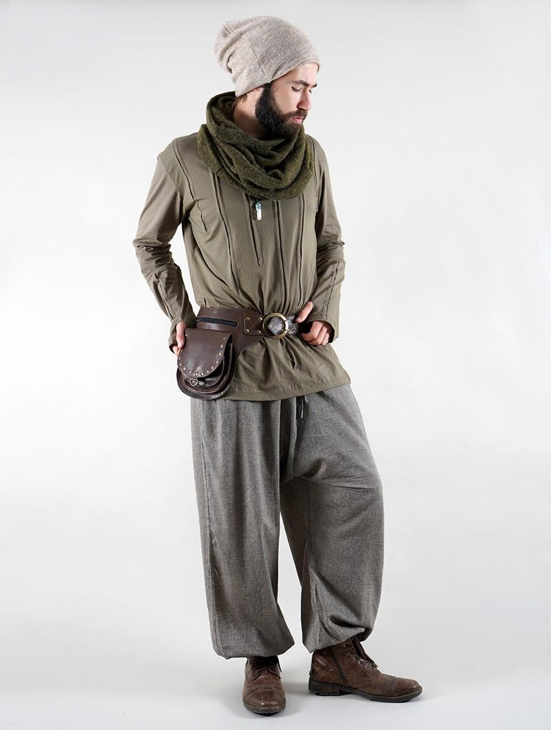 """Cintura con bolsillo \""""Ishtar\"""", Cuero marrón"""