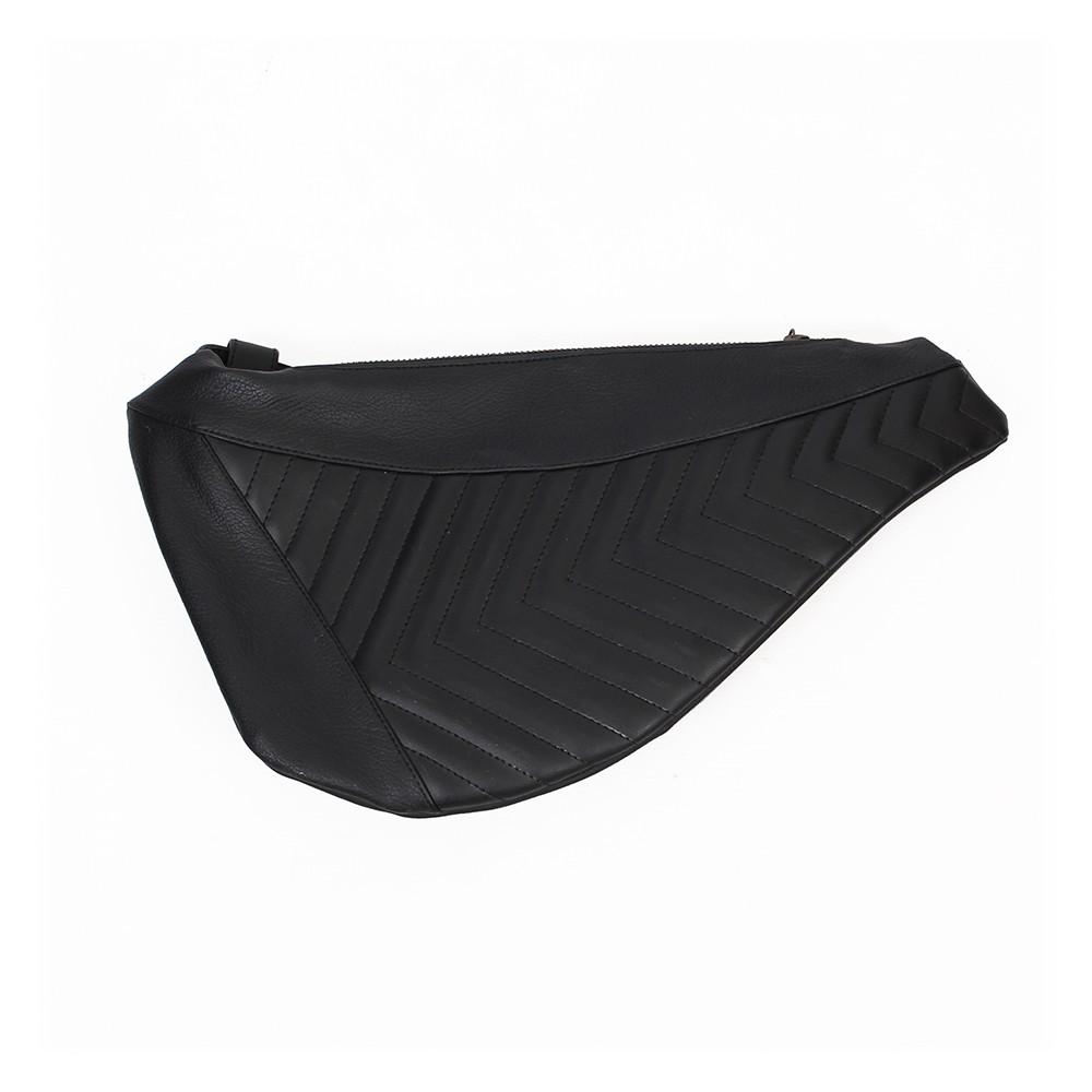 """Cintura riñonera \""""Mig\"""", Cuero sintético negro"""