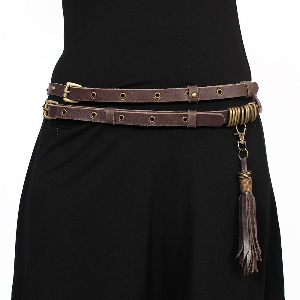 """Cinturón \""""Ravish\"""", Cuero marrón"""