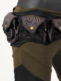 """Cinturón \""""Saraswath\"""", Negro y gris mix"""