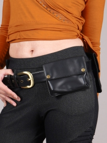 """Cinturón con bolsillo \""""Sirthaal\"""", Cuero sintético negro"""