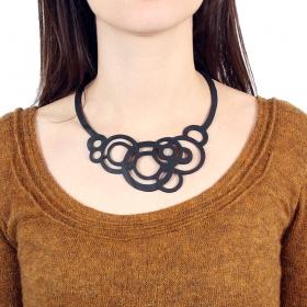 "\""Circular\"" inner tube necklace"