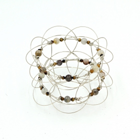 Mandala 3D classique, Pierre Oeil de Tigre