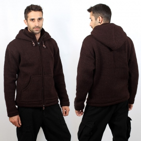 "Coat \""omkar wool and fleece\\\"", brown size xl"