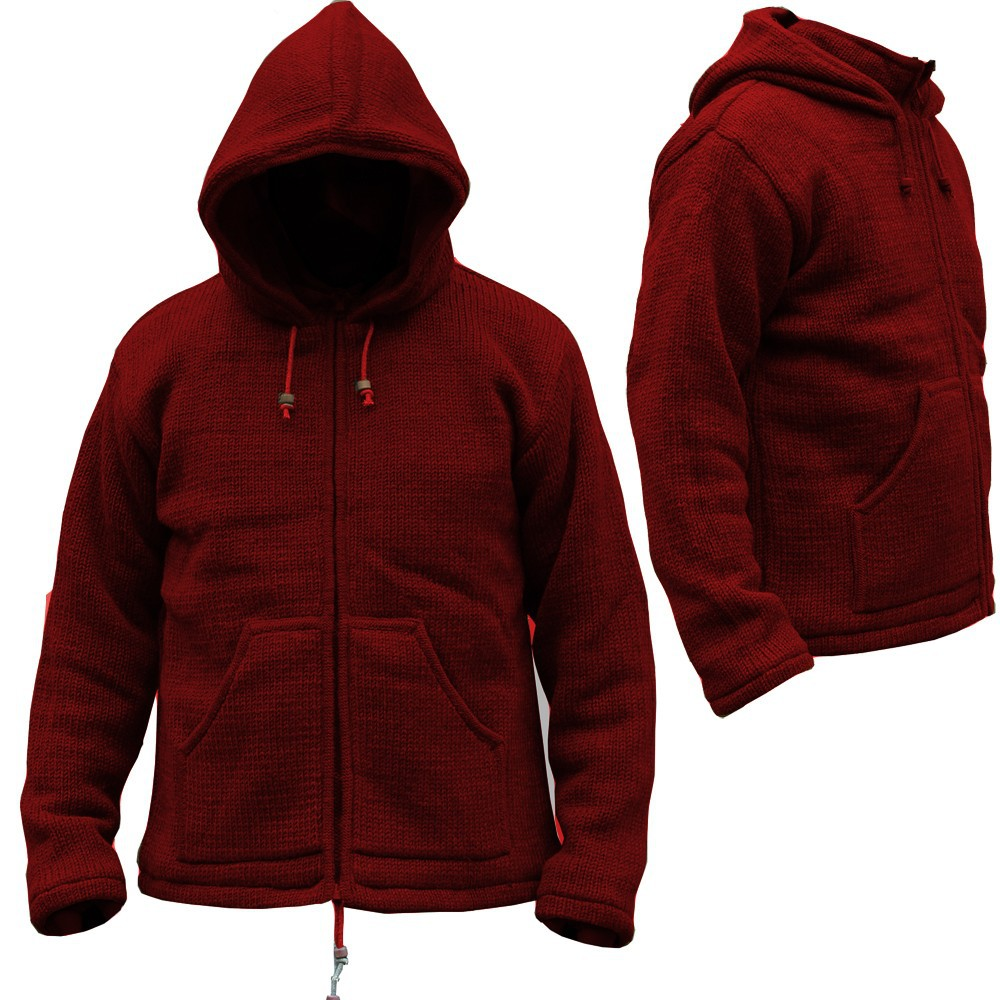 "Coat \""omkar wool and fleece\\\"", red"