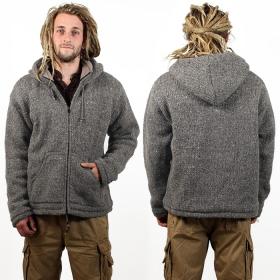 """Coat Macha \""""Omkar Wool and Fleece\"""", Light grey"""
