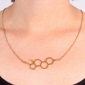 """Collar \""""Mujer\"""", Molécula Estrógeno"""