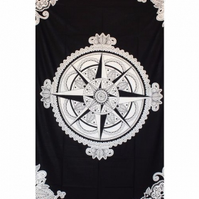 """Compass Rose\"" hanging, Black and white"