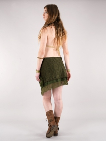 "Crop top de ganchillo ""Aema\"", Beige"