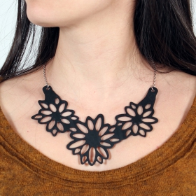 """Dahlia\"" inner tube necklace"