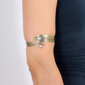 "\""Dahlia Feather\"" bracelet, Moon stone"