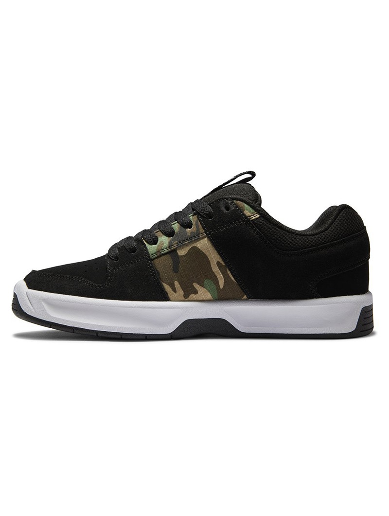 DC Shoes Lynx Zero, Cuero nubuck negro y detalles camuflaje