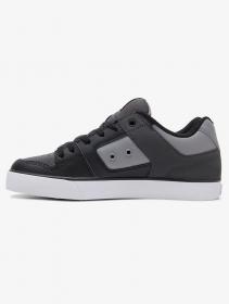 DC Shoes Pure, Cuero blanco, gris y negro