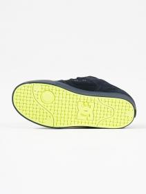 DC Shoes Pure, Cuero negro y limón