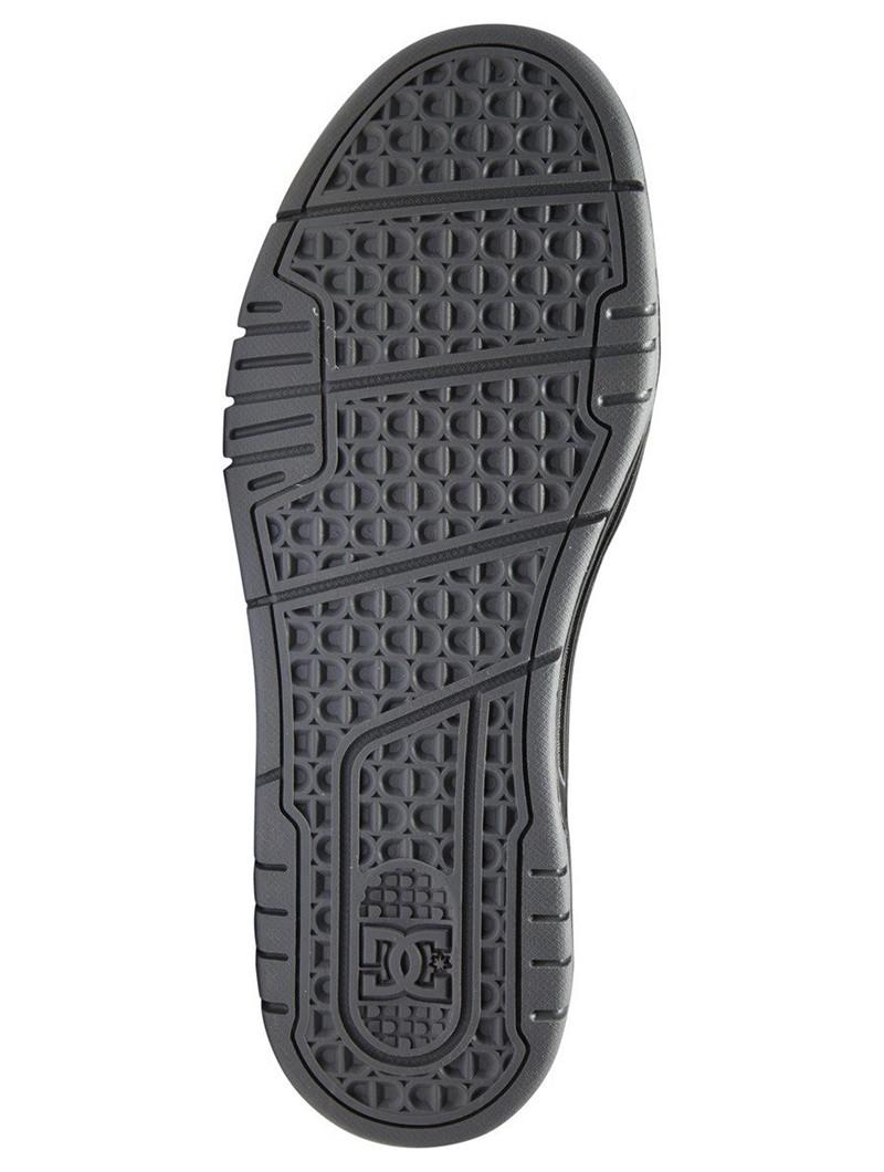 DC Shoes Stag, Cuero negro y detalles grises