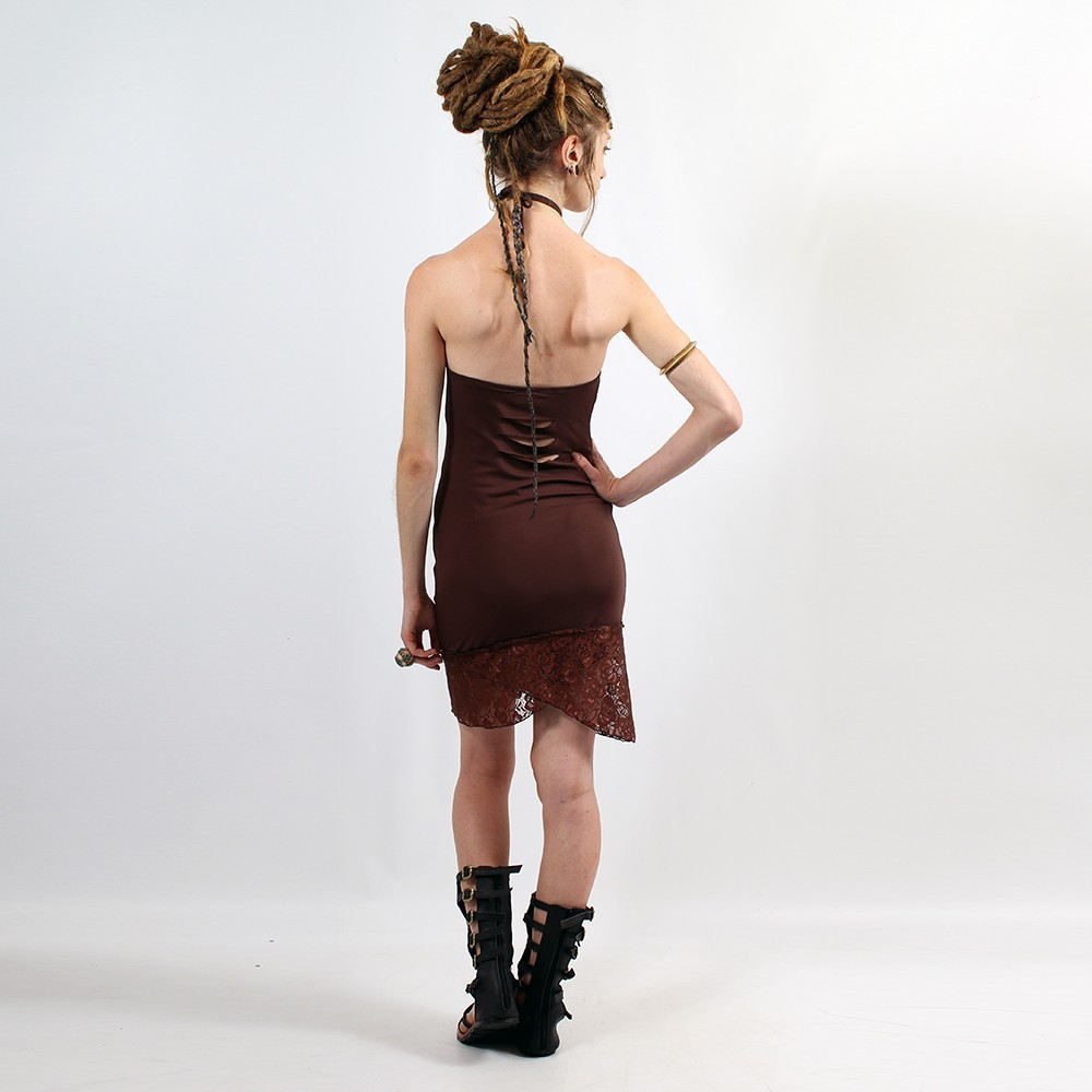 "Dress Flower of life ""Drop Lace\"", Dark Brown"