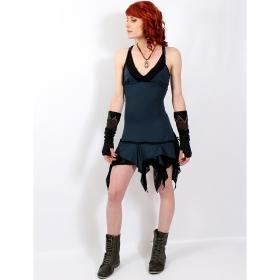 "Dress liloo \\\""nehelenia\\\"", teal blue - black one size"