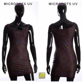 "Dress Sleeveless Public Beta \""Microdots\"", Black"