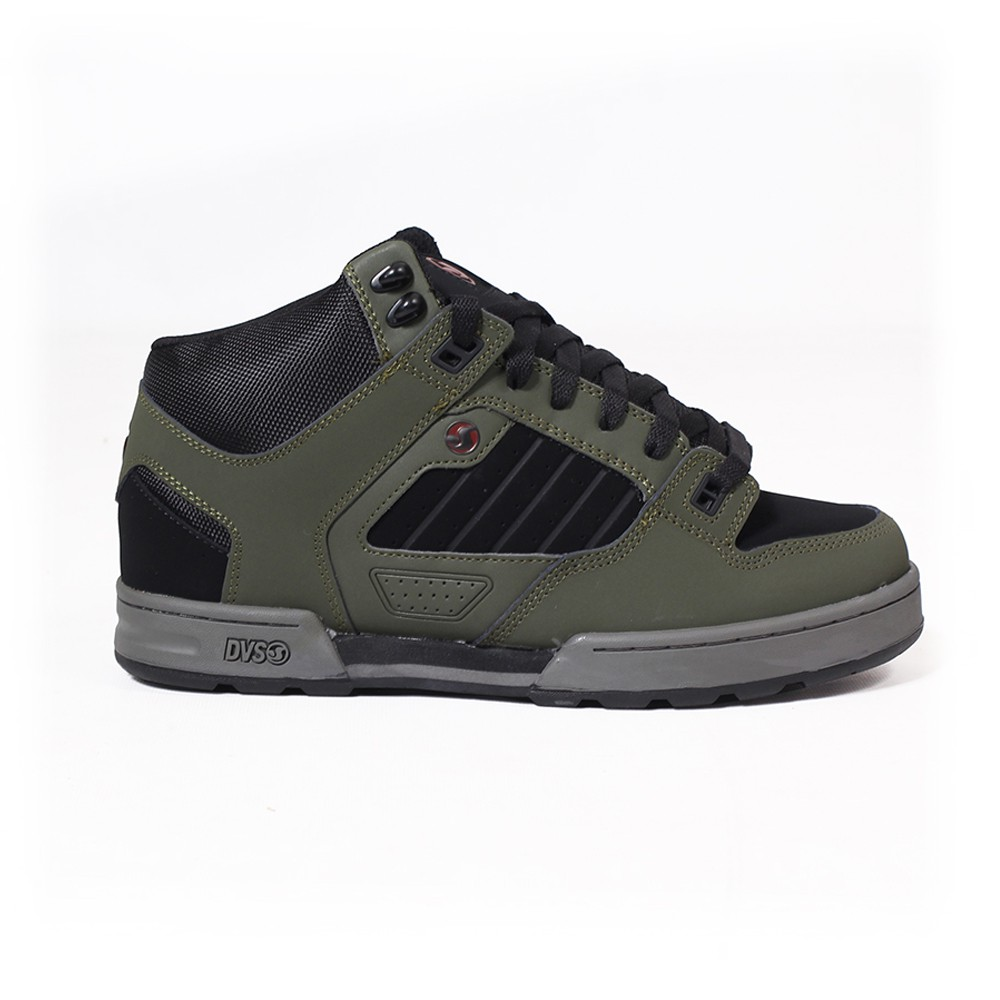 DVS Militia Boots, Caqui cuero y negro detalles