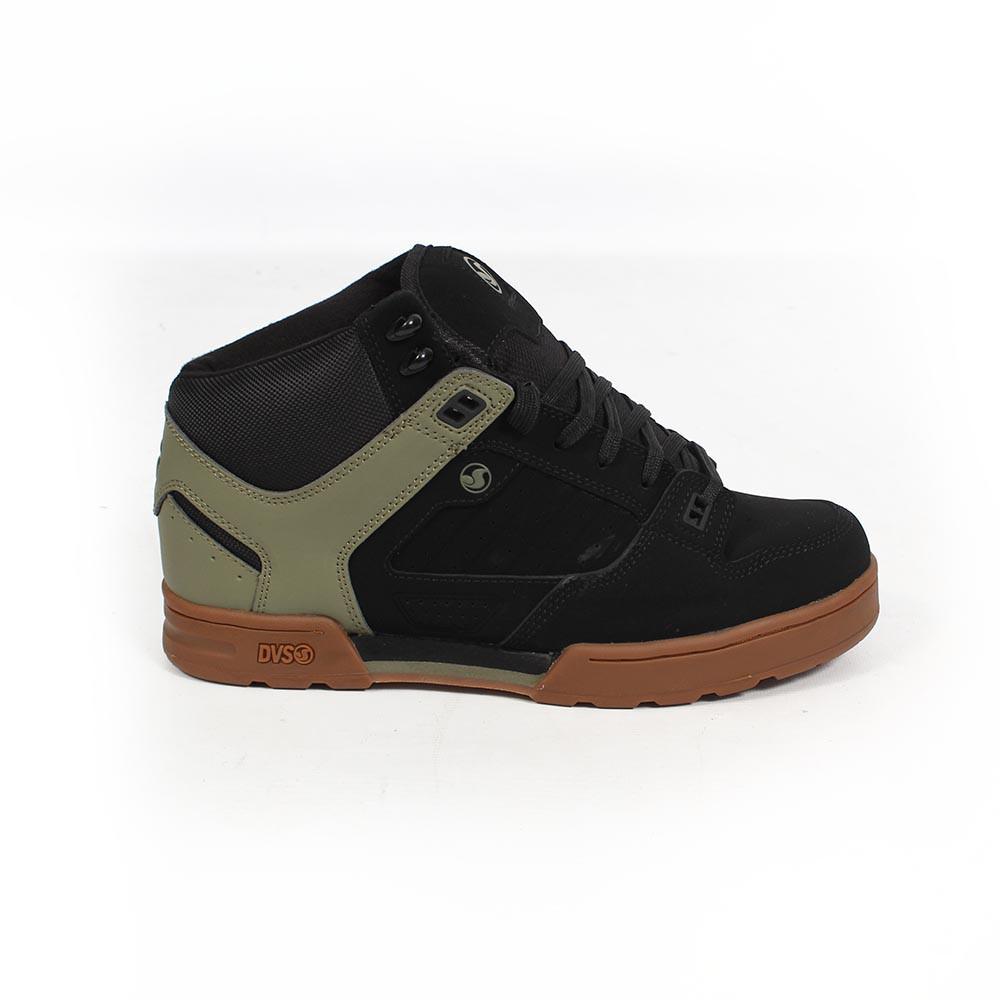 DVS Militia Boots, Cuero negro y caqui detalles