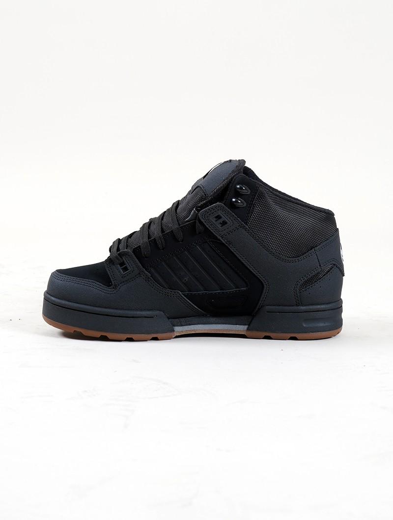 DVS Militia Boots, Cuero negro y negro detalles