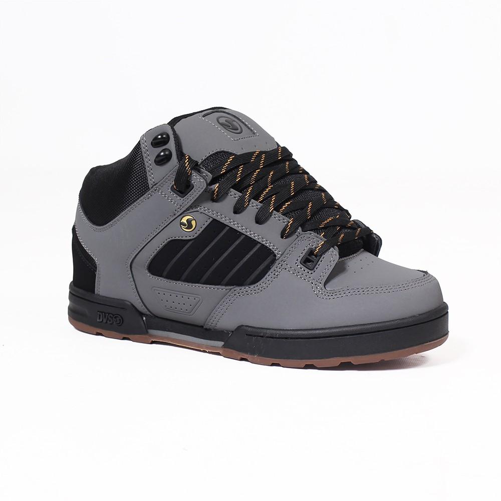 DVS Militia Boots, Gris cuero y negro detalles