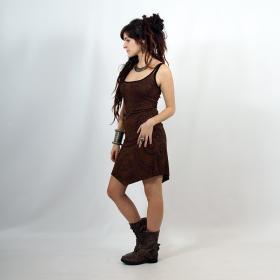 "\""Electra Paisley\"" dress, Brown"