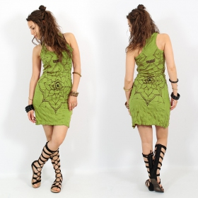 "\\\""Eye Mandala\\\"" dress, Apple green"