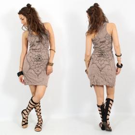 "\""Eye Mandala\"" dress, Light brown"
