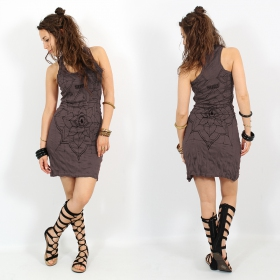 "\""Eye Mandala\"" dress, Taupe"