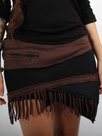 """Falda \""""Azhar\"""", Negro y marrón"""