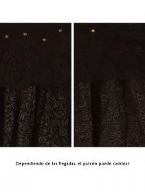 """Falda """"Chimey"""", Negro y marrón"""