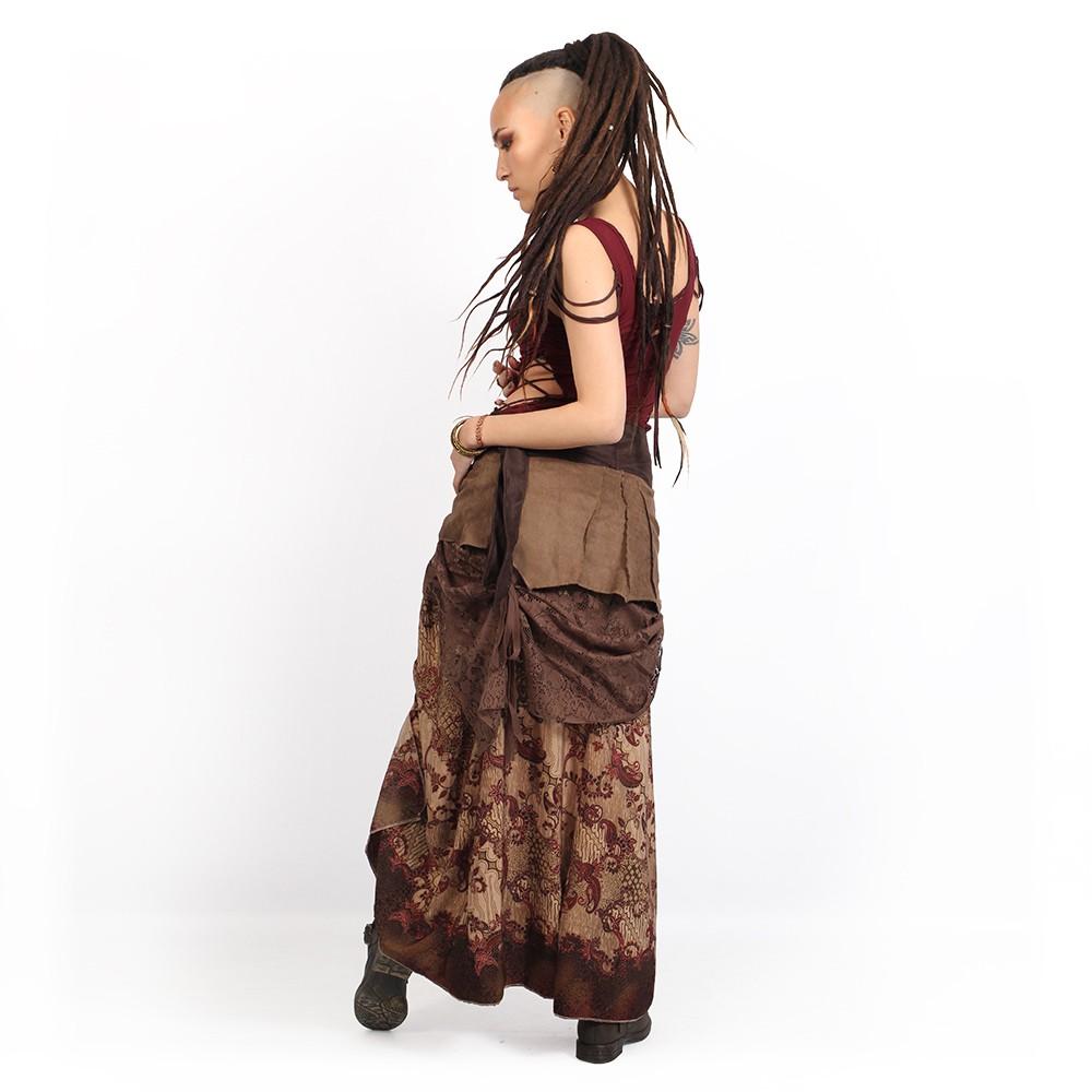 """Falda 3en1 \""""Utopia\"""", Marrón con negro marrón motivos"""