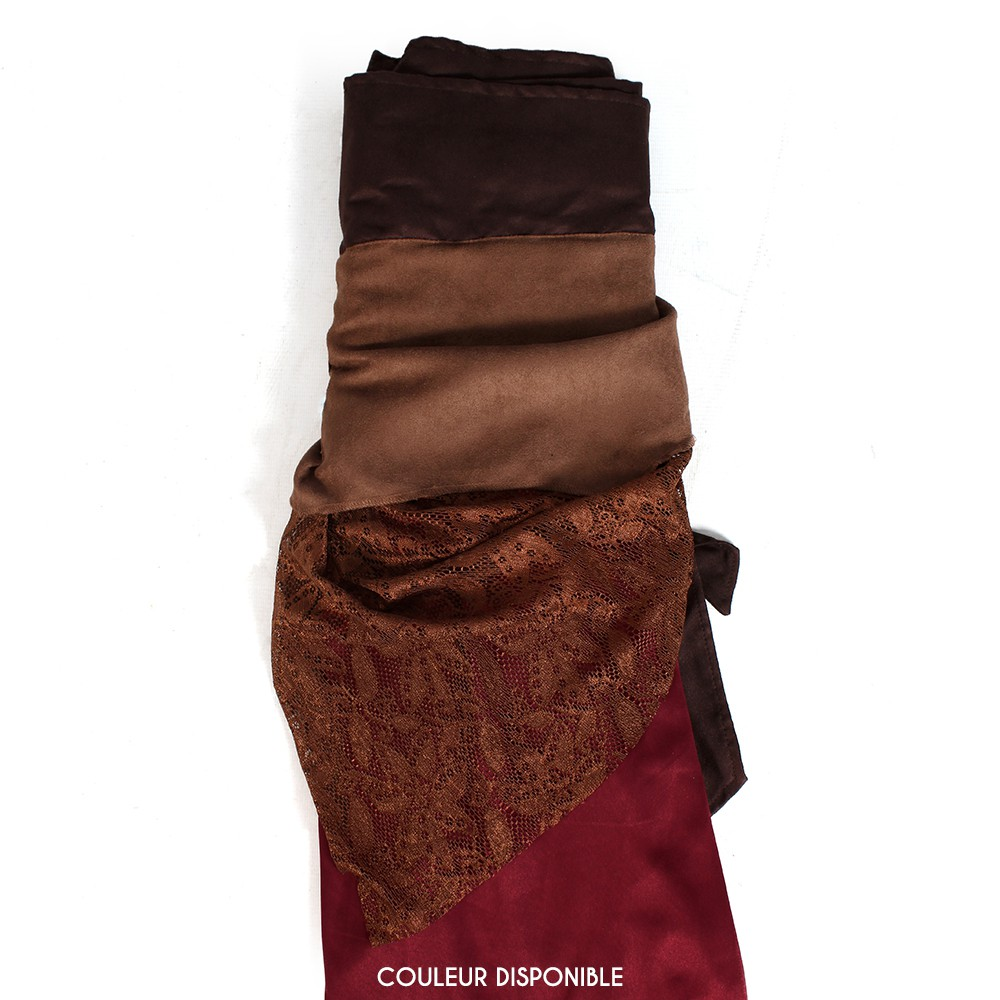 """Falda 3en1 \""""Utopia\"""", Rojo oscuro y marrón"""