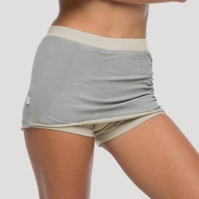 """Falda pantalón \""""Faldaed shorts\"""", Gris claro y beige"""