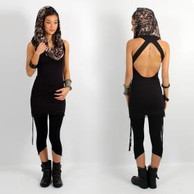 "\\\""Feline\\\"" dress, Black"