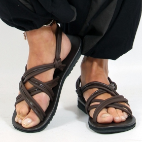 "Flip-flops ""pusha\"", DarkBrown"
