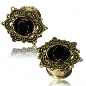 "\""Flower Onyx\\\"" brass plug"