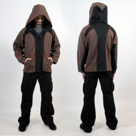 GADO F03SKYROUNDHOOD BROWN FULL FRONTBACK