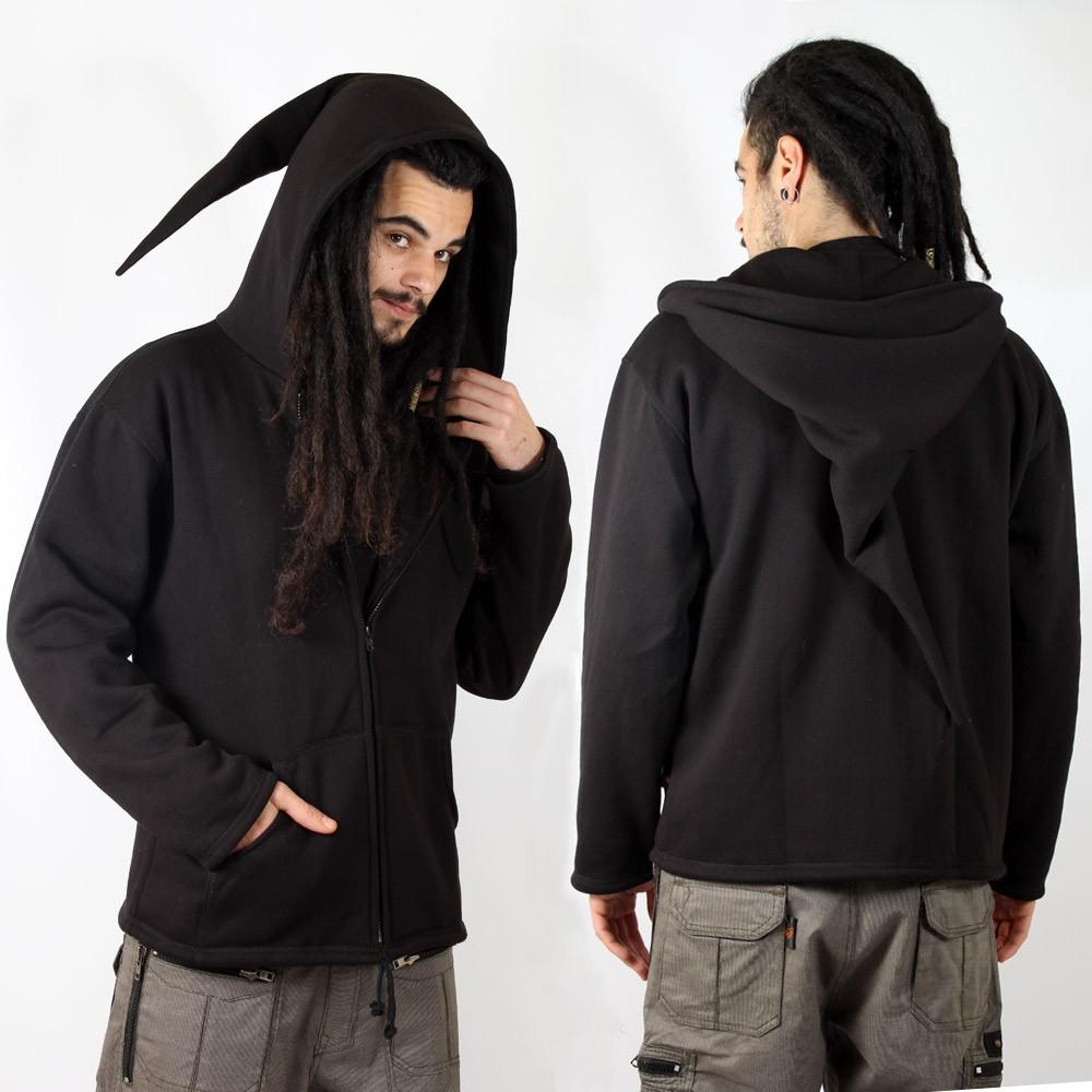 "GadoGado Jacket dwarfhood \""Hauni\"", Plain black"