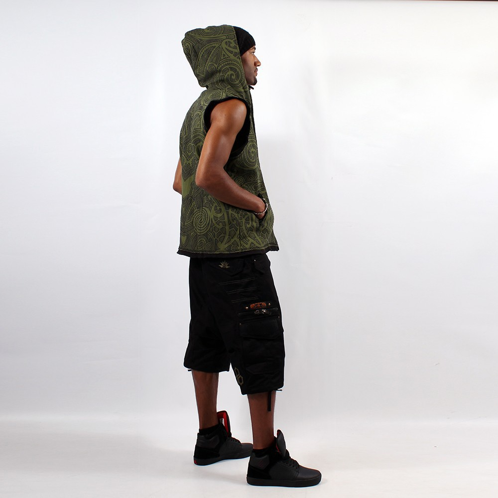 "GadoGado Sleeveless jacket ""Onati\"", Khaki"