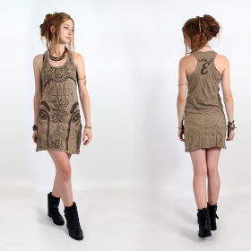 "\""Ganesh Eye\\\"" dress, Light brown"