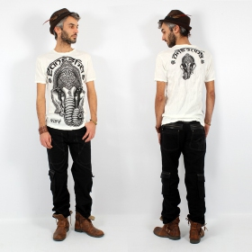 """Ganesh Face\"" t-shirt, White"