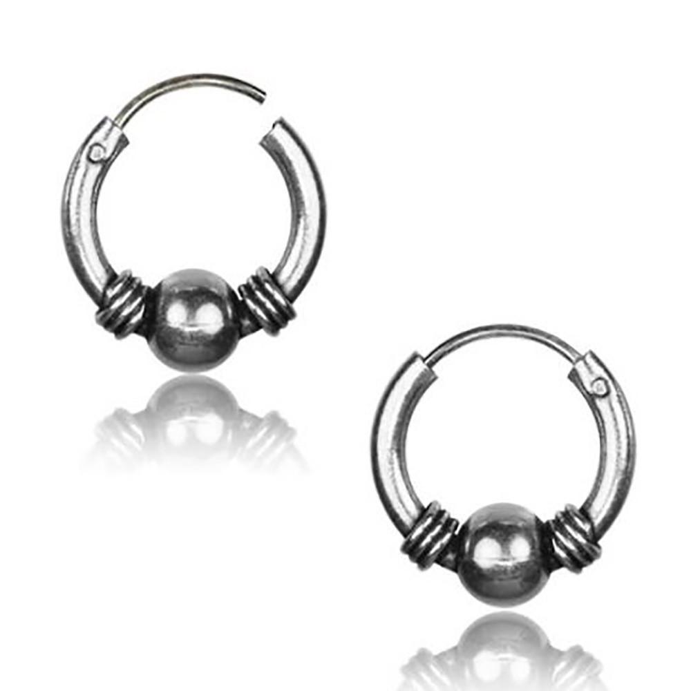 \\\'Gend\\\'\\\' chiseled silver earrings