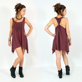 ""\\""""Geometric Scarab\"""" knotted tunic, Mottled wine and black""280|280|?|en|2|4ee9109a7532980265c3ca74f6b080e1|False|UNLIKELY|0.2983196973800659