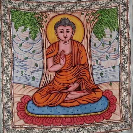 """Hanging \\\""""Bouddha Handbrush\\\"""" 2,10m x 2,40m"""