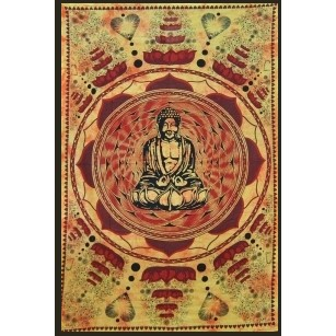 "Hanging \""bouddha lotus\\\"" 1,40 x 2,20 m  orange"