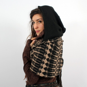Hoodie scarf, Black