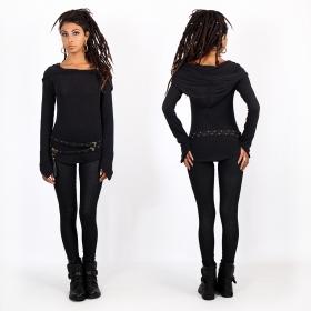 "\""Hypnotik\"" long leggings, Printed black"